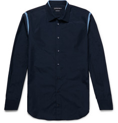 Alexander McQueen Slim-Fit Contrast-Trimmed Cotton-Poplin Shirt