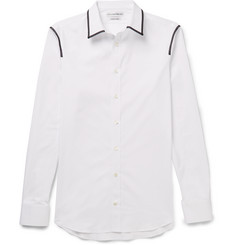 Alexander McQueen Slim-Fit Stitch-Trimmed Cotton-Poplin Shirt