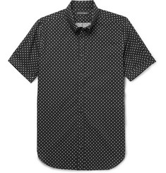 Alexander McQueen Button-Down Collar Printed Cotton-Poplin Shirt