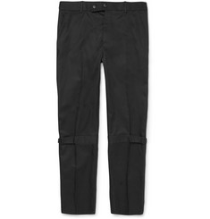 Alexander McQueen Bondage Slim-Fit Cotton-Twill Trousers