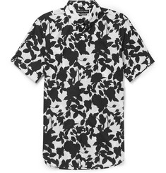Alexander McQueen Brad Slim-Fit Floral-Print Cotton Shirt
