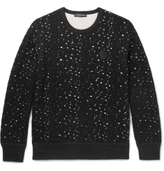 Alexander McQueen Slim-Fit Distressed Knitted Sweatshirt