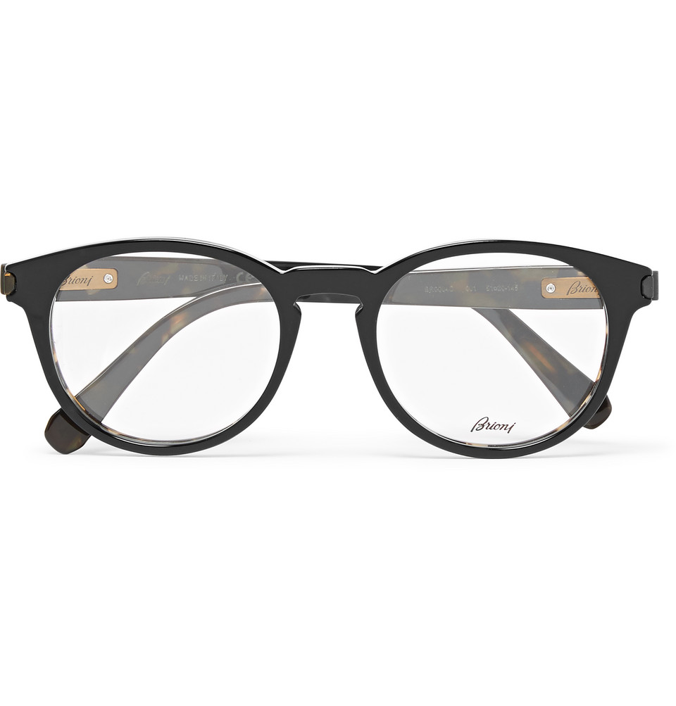Brioni Round Frame Acetate Optical Glasses