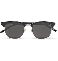 Saint Laurent D-Frame Metal and Acetate Sunglasses