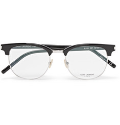 Saint Laurent D-Frame Metal and Acetate Optical Glasses