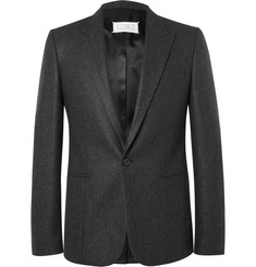 Maison Margiela Grey Slim-Fit Wool-Flannel Suit Jacket