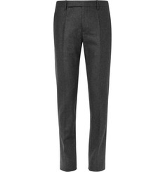 Maison Margiela Grey Slim-Fit Wool-Flannel Trousers