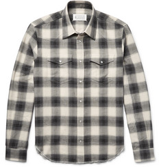 Maison Margiela Checked Cotton-Flannel Shirt