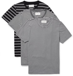 Maison Margiela - Three-Pack Slim-Fit Striped Cotton-Jersey T-Shirts