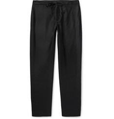 Maison Margiela Slim-Fit Drawstring Wool-Flannel Trousers