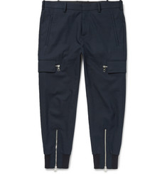 Neil Barrett Tapered Stretch Cotton-Blend Trousers