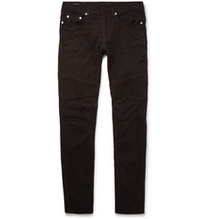 Neil Barrett Skinny-Fit Panelled Stretch-Denim Biker Jeans