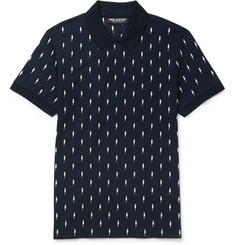 Neil Barrett Slim-Fit Embroidered Cotton-Piqué Polo Shirt
