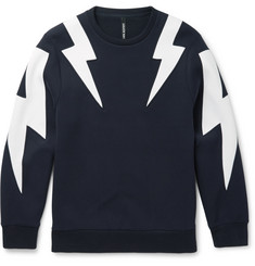 Neil Barrett Panelled Jersey Sweatshirt
