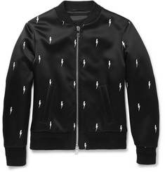 Neil Barrett Embroidered Shell Bomber Jacket