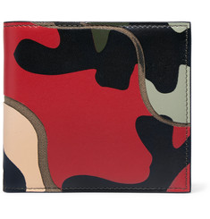 Valentino Camoflauge-Print Leather and Canvas Billfold Wallet