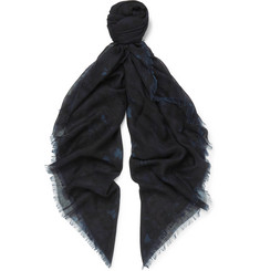 Valentino - Printed Cashmere and Silk-Blend Scarf