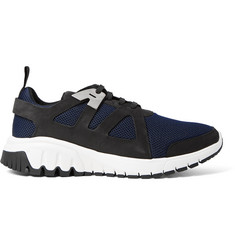 Neil Barrett Molecular Runner Nubuck and Mesh Sneakers