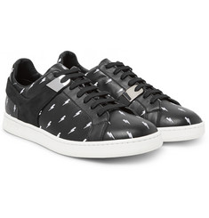 Neil Barrett - Embroidered Leather Sneakers