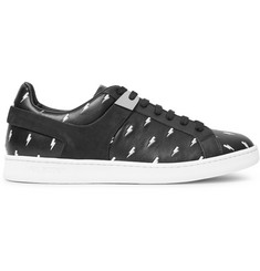 Neil Barrett Embroidered Leather Sneakers