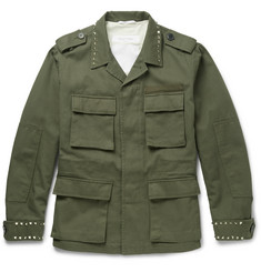 Valentino - Studded Cotton-Canvas Field Jacket