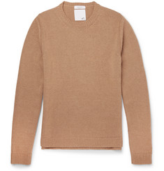Valentino Slim-Fit Studded Camel Hair Sweater