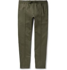 Valentino Slim-Fit Drawstring Cotton-Twill Trousers