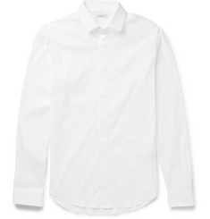 Valentino - Slim-Fit Stretch Cotton-Blend Poplin Shirt