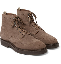 Officine Creative - Harvard Brogue-Detailed Suede Boots