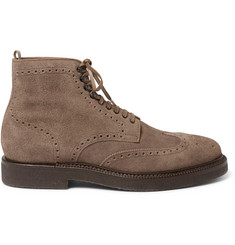 Officine Creative Harvard Brogue-Detailed Suede Boots