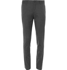 Dolce & Gabbana - Slim-Fit Houndstooth Stretch-Wool Trousers