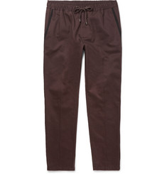 Dolce & Gabbana Slim-Fit Drawstring Contrast-Trimmed Cotton Trousers