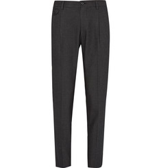Dolce & Gabbana Slim-Fit Pin-Dot Embroidered Cotton Trousers