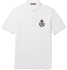 Dolce & Gabbana - Slim-Fit Cotton-Piqué Polo Shirt