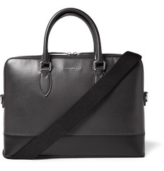 Burberry London Bi-Colour Grained-Leather Briefcase