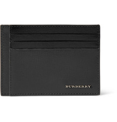 Burberry Bernie Cross-Grain Leather Cardholder