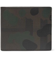 Burberry Camouflage-Print Textured-Leather Billfold Wallet