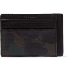 Burberry Camouflage-Print PVC and Leather Cardholder
