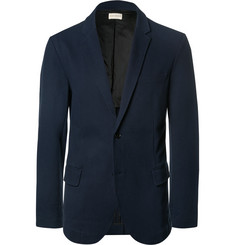 Club Monaco - Blue Slim-Fit Stretch-Cotton Piqué Blazer