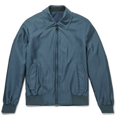 Brioni Slim-Fit Reversible Silk-Shell Bomber Jacket