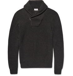 Brioni Shawl-Collar Honeycomb-Knit Cashmere Sweater