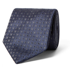 Brioni Patterned Silk-Jacquard Tie
