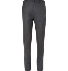 Etro Grey Slim-Fit Wool-Blend Trousers