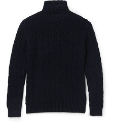 Etro Cable-Knit Wool Rollneck Sweater