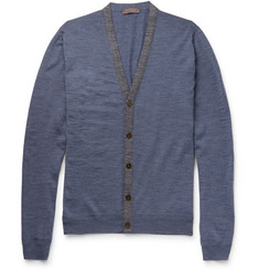 Etro Contrast-Trimmed Wool Cardigan