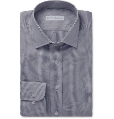 Etro - Blue Floral-Jacquard Cotton Shirt