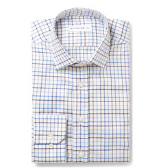 Etro Slim-Fit Checked Cotton-Jacquard Shirt
