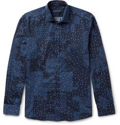 Etro Slim-Fit Paisley-Print Washed-Cotton Shirt
