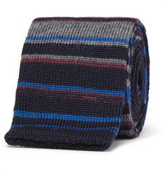 Etro 5cm Striped Knitted Wool Tie