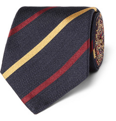 Etro Striped Silk-Twill Tie
